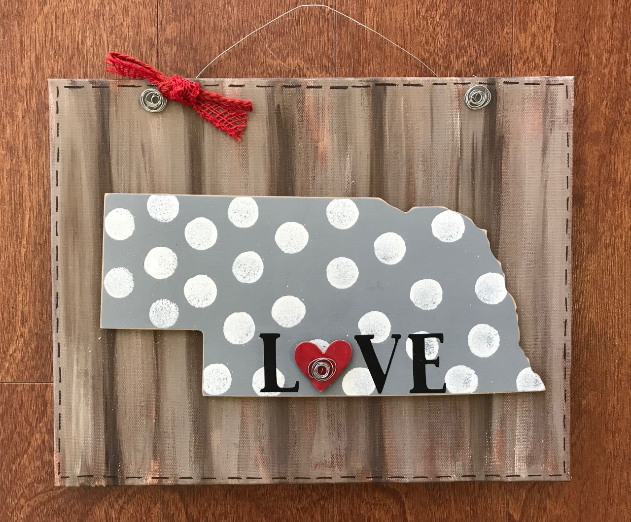 Nebraska Home Door Hanger