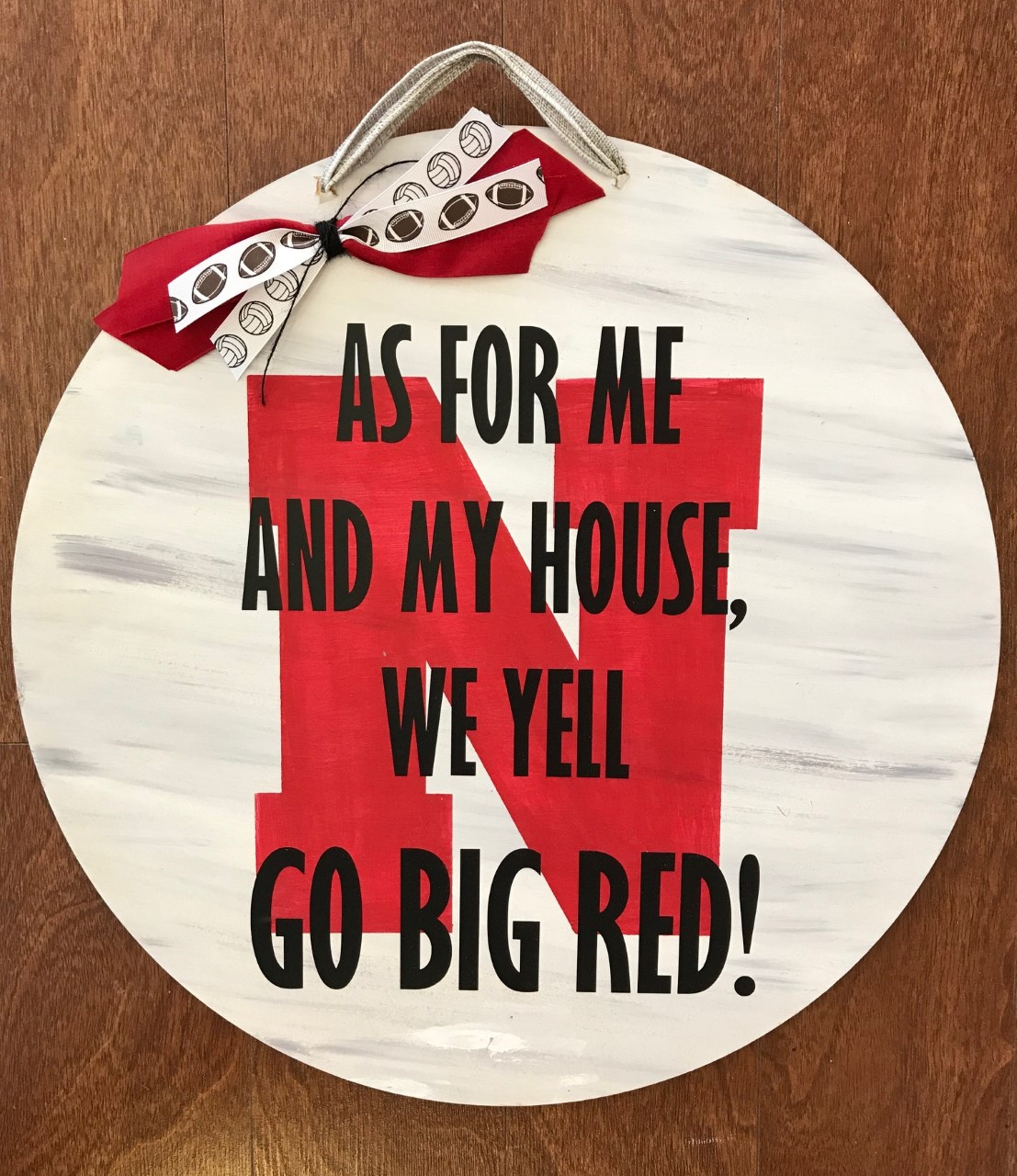 Go Big Red Door Hanger